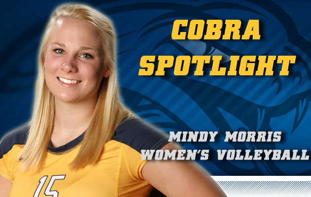 Cobra Spotlight- Mindy Morris, Women's Volleyball