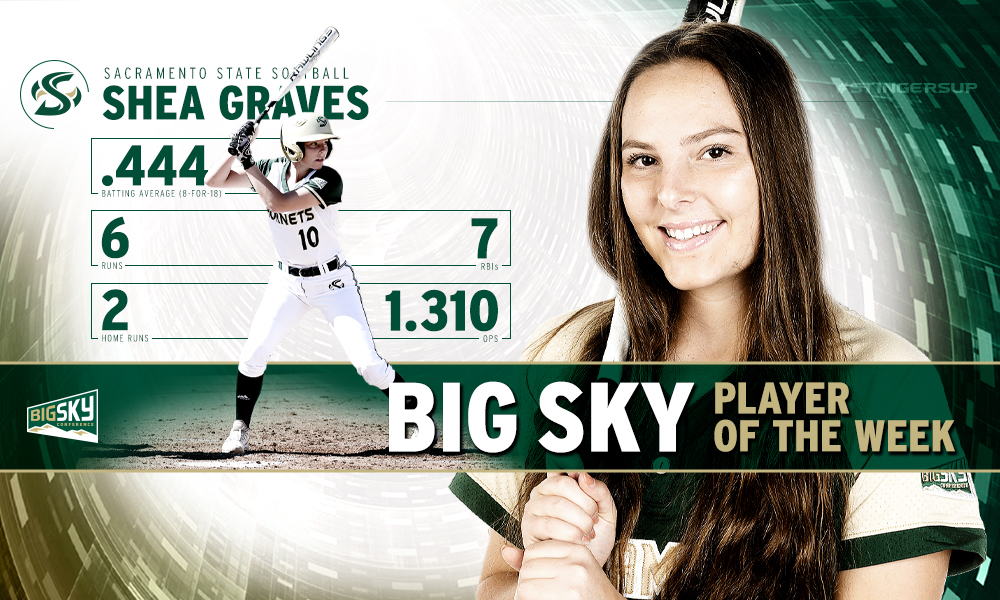 SHEA GRAVES NAMED THE BIG SKY SOFTBALL PLAYER OF THE WEEK