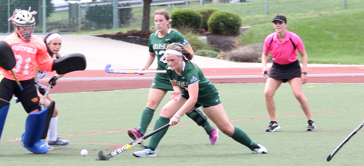Sage falls short to Elms in Field Hockey, 3-1