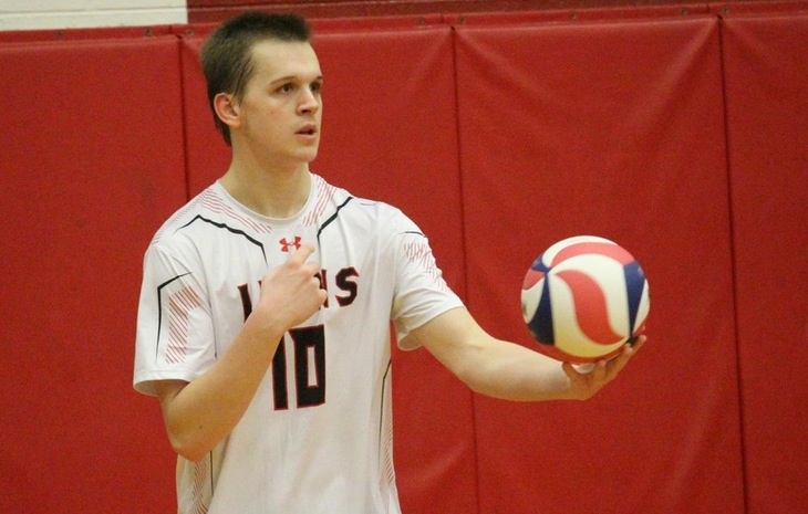 Men's Volleyball Sweeps Lesley, 3-0, with 19 Service Aces