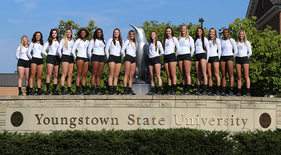 2017 Youngstown State Volleyball Team Photo