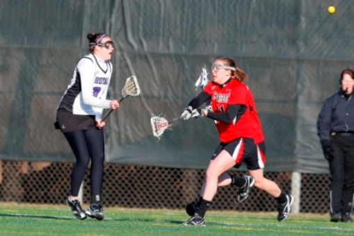 Junior attacker Kerry Sullivan had three goals in the Royals' 12-9 loss to Haverford on Saturday at Fitzpatrick Field.