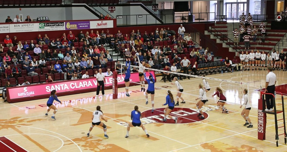 Campers have the opportunity to play on Santa Clara's home floor in Leavey Center.