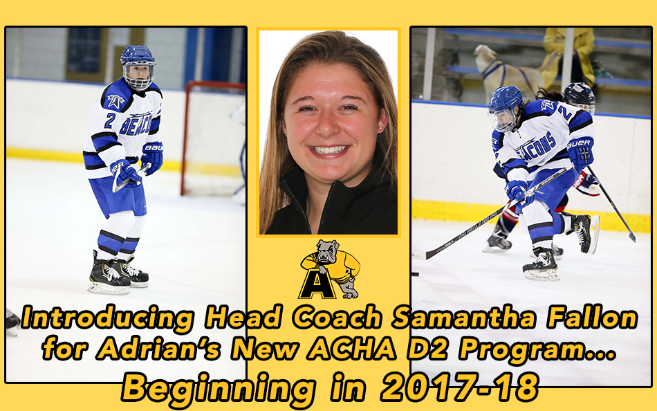 Samantha Fallon Tapped to Lead New ACHA Division 2 Women's Program; Bulldogs Take the Ice Next Season