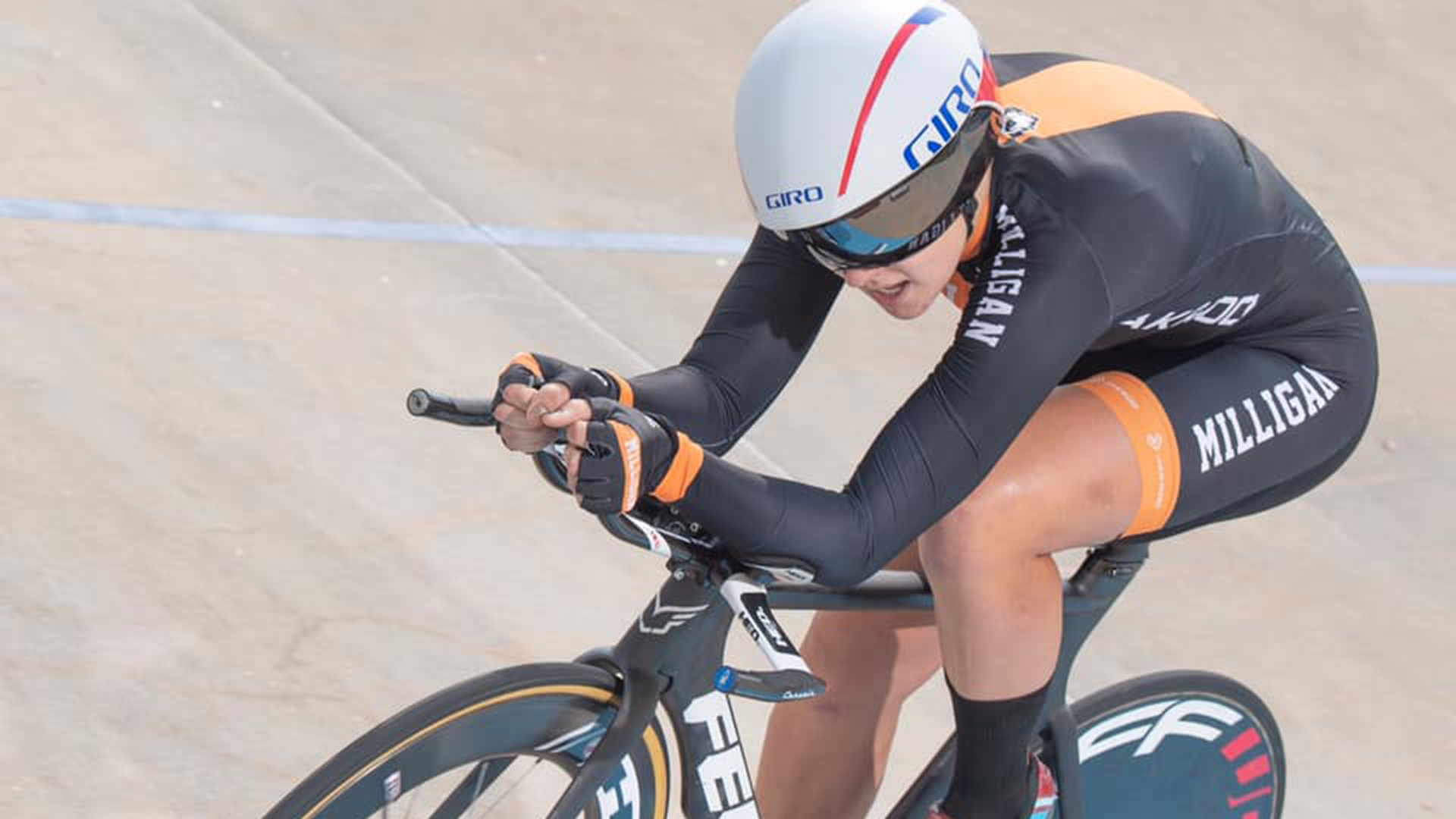 Milligan cycling finishes fourth at track nationals
