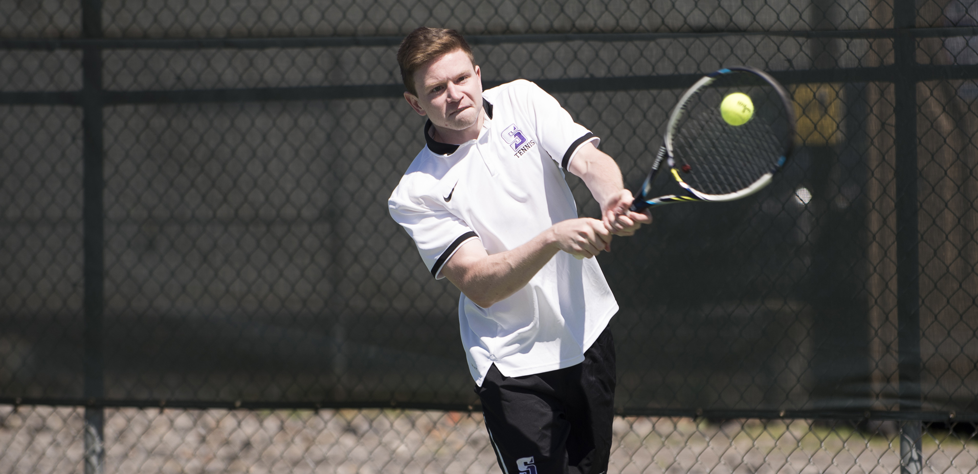 Keller McGurrin won a pair of matches to lead Scranton past Roger Williams in the Royals' second match on Wednesday.