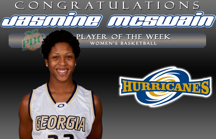 McSwain named PBC Player of the Week