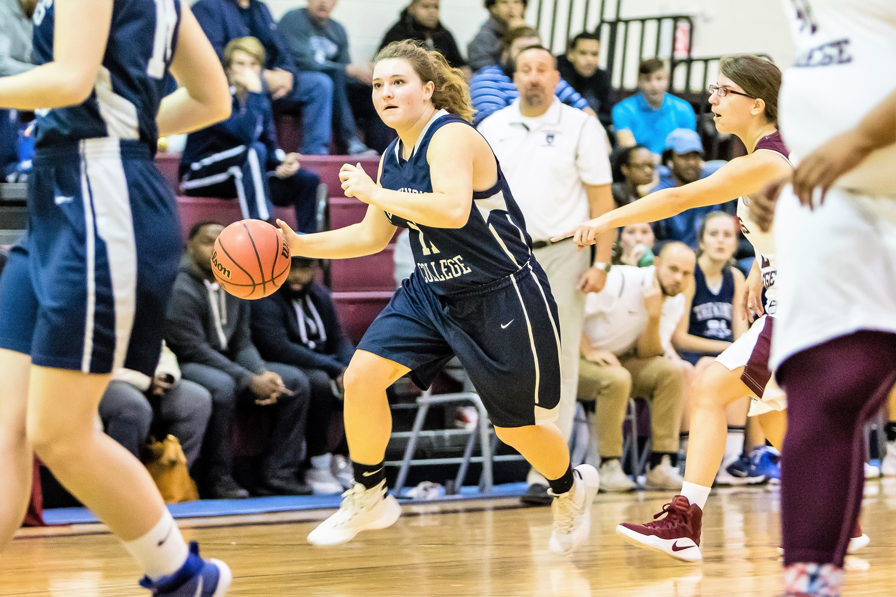 Lady Lions Downed By Davis Despite Thomason Double-Double
