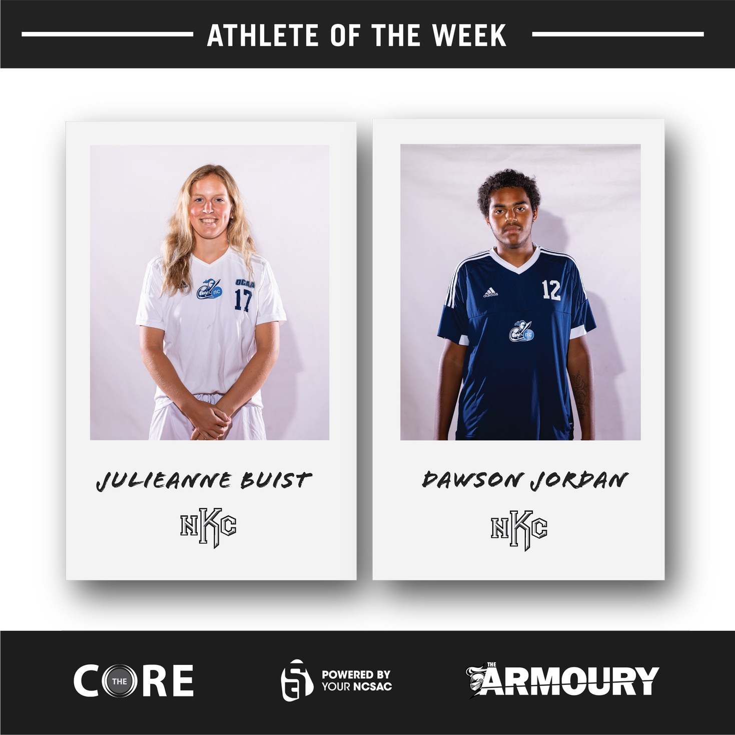 Dawson Jordan and Julieanne Buist Named NCSAC Athletes of the Week for October 7-11