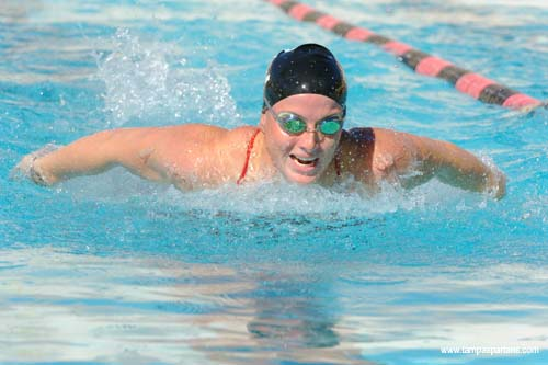 Three-time All-American Heather Glenday leads the Spartan women into action.