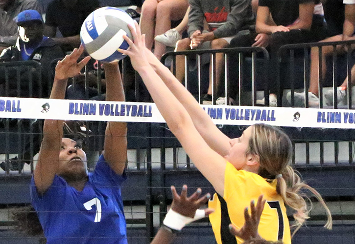 Blinn College Volleyball Downs 12th-Ranked Tyler Junior College