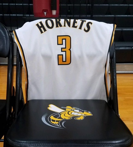 Miranda Gifford's jersey on a chair