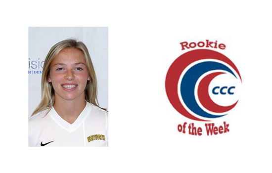 Weinberger Earns CCC Rookie of the Week Honors