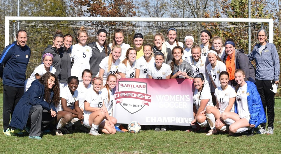Lions women's soccer team defeats Hanover to claim the HCAC Championship; Gruber named MVP