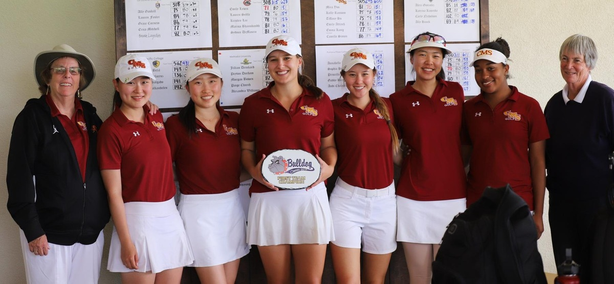 The CMS women's golf team finished in first place for its fourth straight event this spring