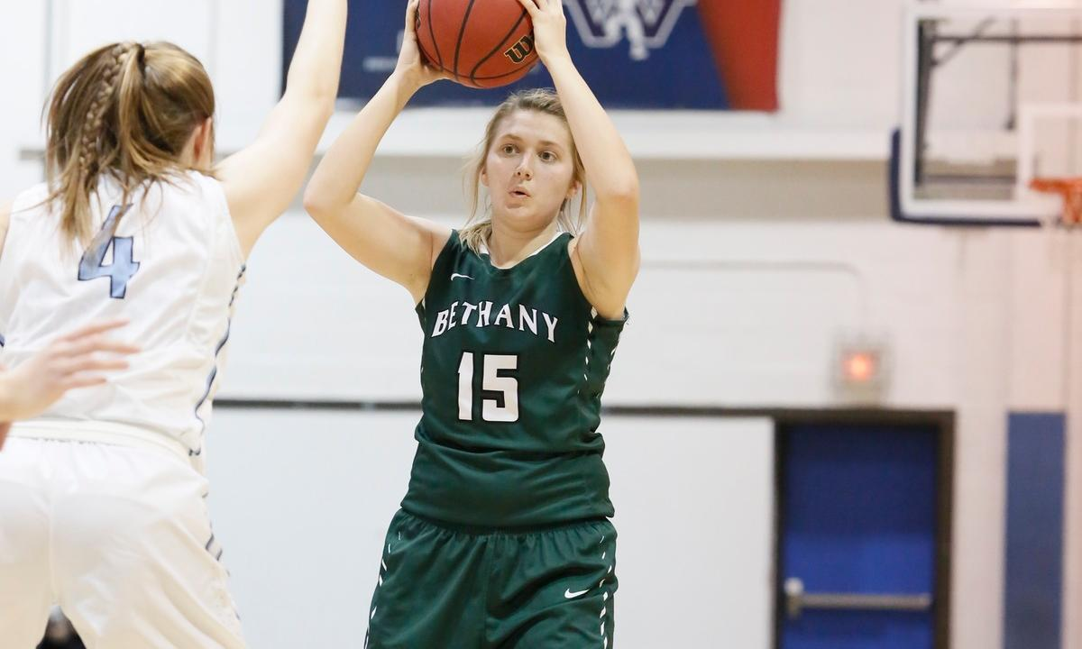 Ashley Duthie's Double-Double Leads Bethany to a 54-41 victory over Geneva