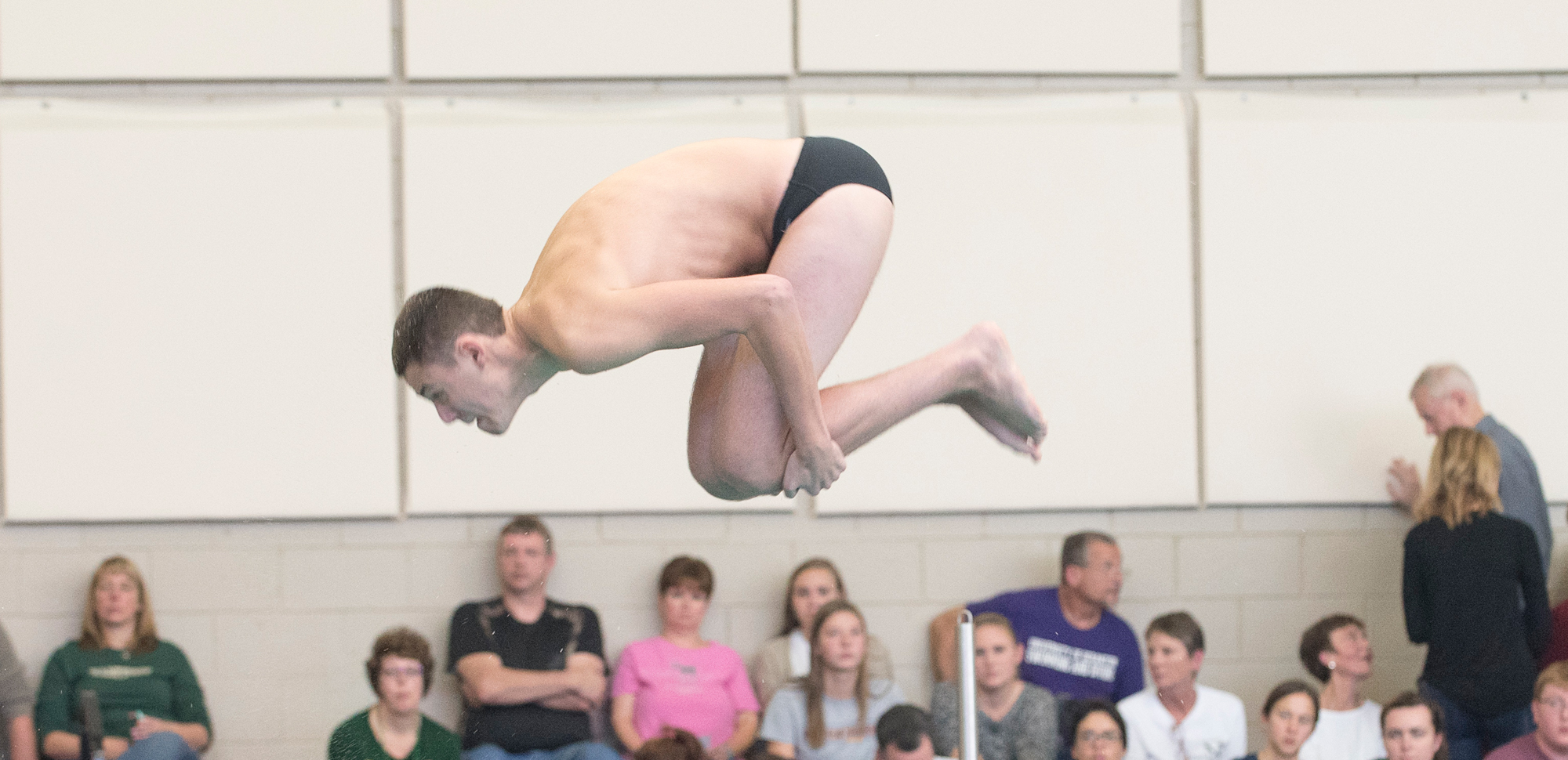 Sophomore Michael Diana was second at both one meter and three meters on Saturday at Catholic.
