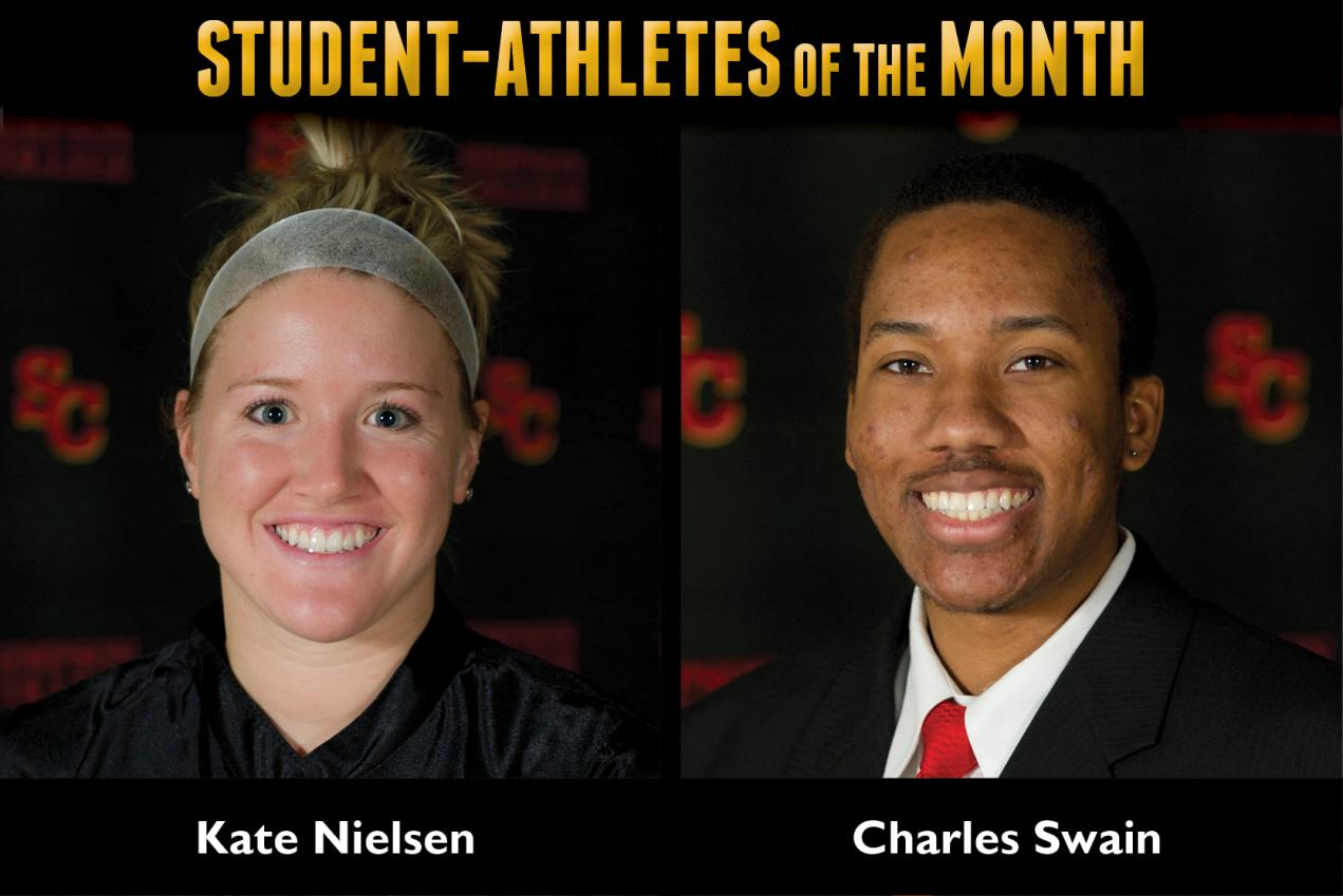 Nielsen, Swain named Student-Athletes of the Month