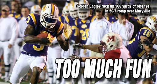 Big plays, excitement rule the evening as Golden Eagles roll to victory