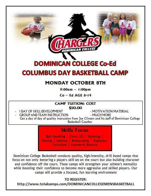 2018 Columbus Day Co-Ed Basketball Camp