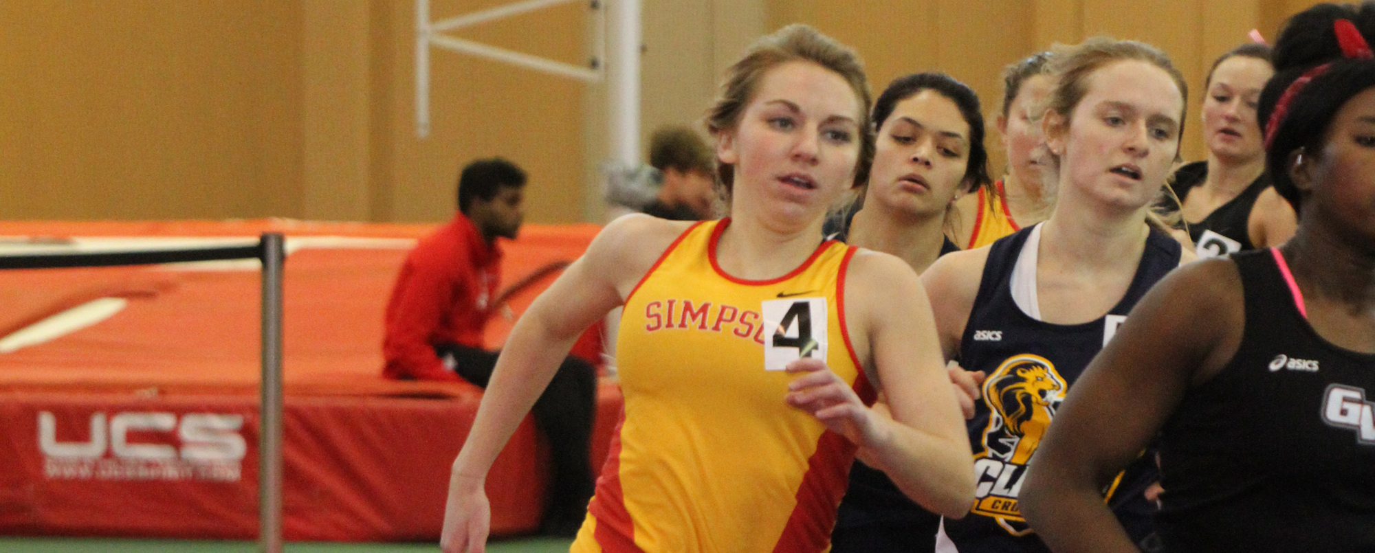 Courtney Neuendorf ran to a sixth-place finish in the 3,000-meter run at the Nebraska Wesleyan Invitational on Friday, Jan. 20.