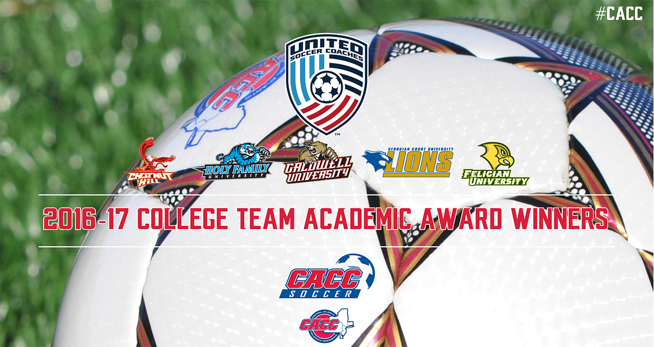Five CACC Schools Named 2016-17 United Soccer Coaches College Team Academic Award Winners
