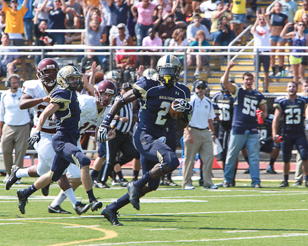 Gallaudet's defense causes four turnovers as Bison stampede past Apprentice, 35-7