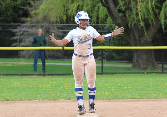 SOFTBALL BOWS OUT OF GNAC TOURNEY TO SUFFOLK IN EXTRAS, 4-3