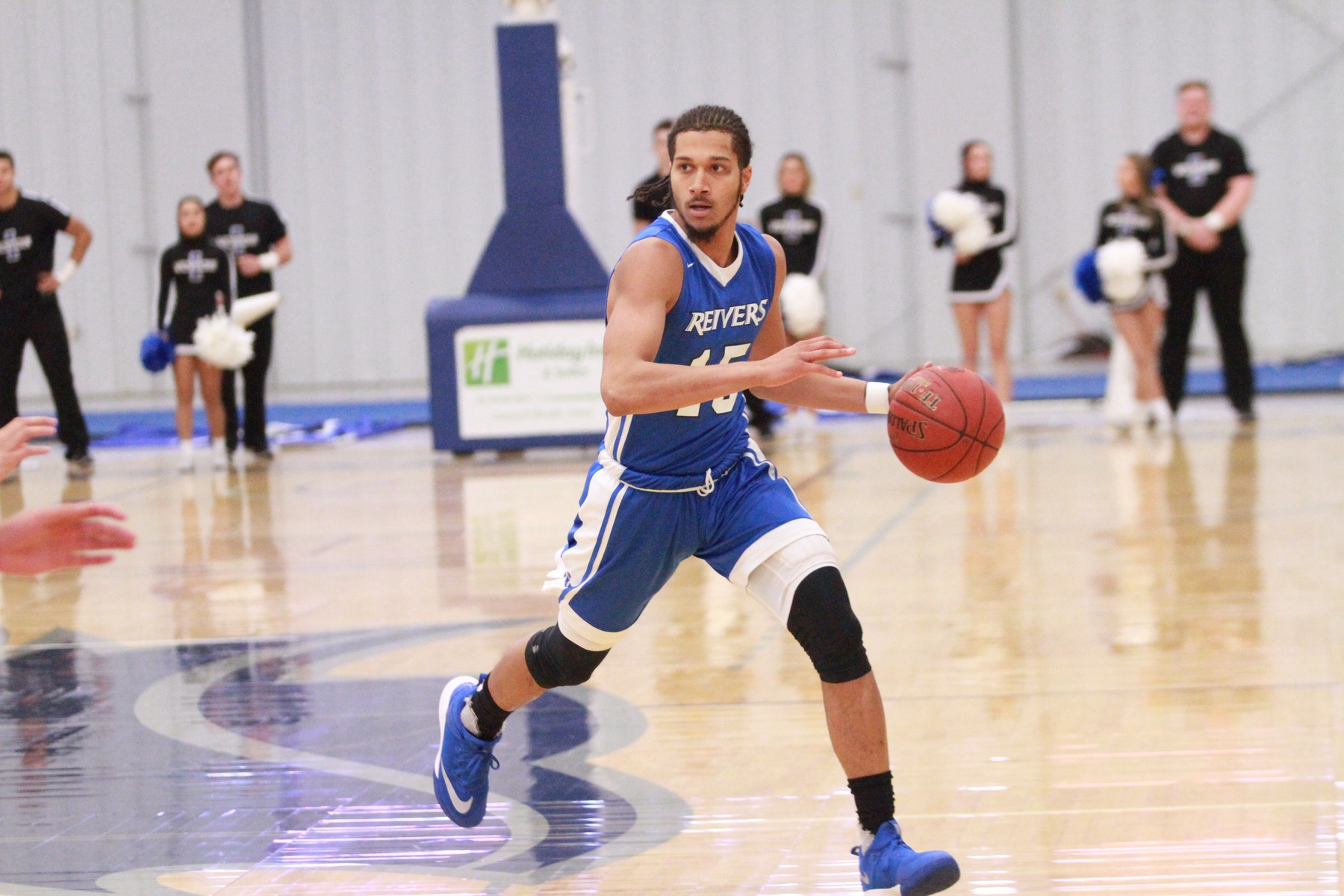 Rhyss Lewis and his Reiver teammates reached the century mark for the fifth time this season with a 103-88 victory to open up the Iowa Western Men's Basketball Classic.