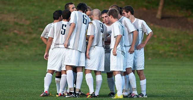 Men S Soccer Falls To Goucher Moravian College
