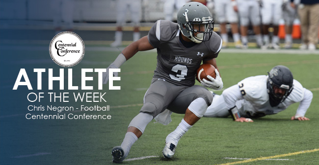 Negron Selected as Centennial Conference Co-Offensive Player of the Week