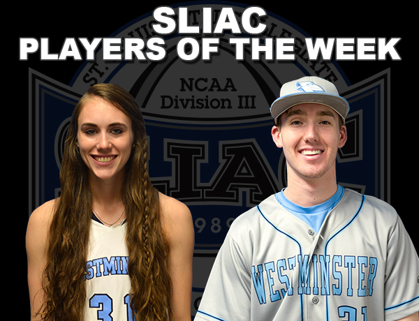 Westminster's Armontrout and Cessna Bring Home SLIAC Player of the Week Honors