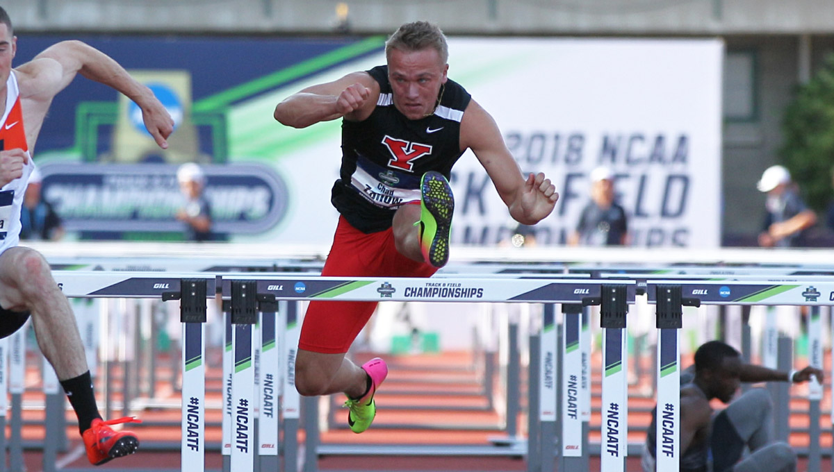 Chad Zallow competes at the NCAA Outdoor Track and Field Championships (Photo By Rick Morgan)