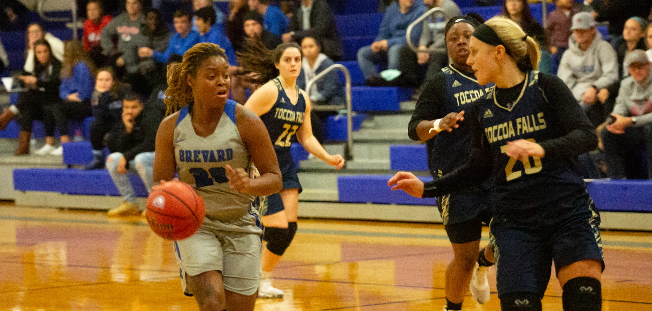 Deja Riddick scored a game-high 21 points, ripped down eight boards, and tallied a career-best eight steals (most by a Tornado since 2012) on Wednesday vs. Maryville (Photo courtesy of Thom Kennedy '21)