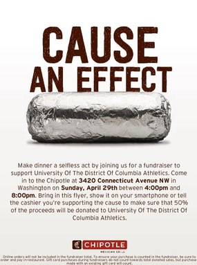 UDC Athletic Fundraiser with Chipotle.