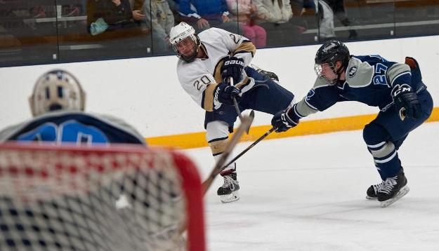 Men's Hockey Powers Past Lawrence