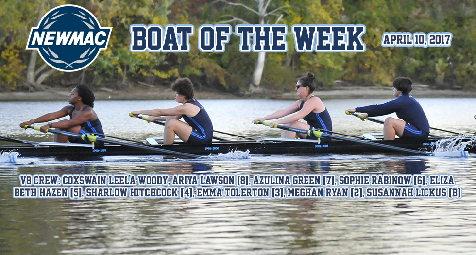 Rowing Earns NEWMAC Boat of the Week Honors