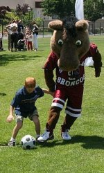 Bucky the Bronco to Compete in Halftime Match