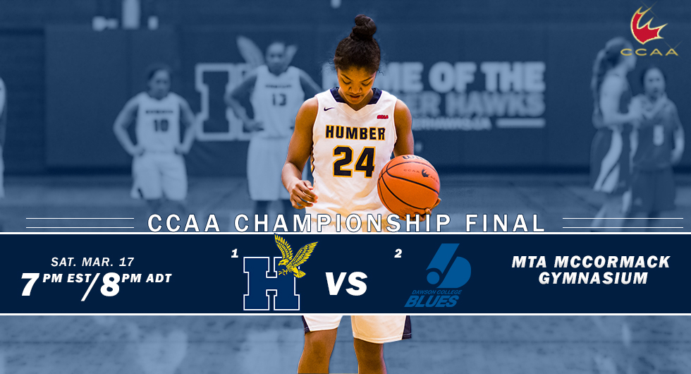 No. 1 HUMBER SET TO BATTLE No. 2 DAWSON IN CCAA TITLE GAME