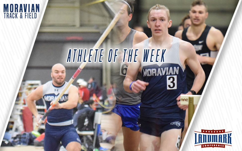 Scott Goodwin and Greg Jaindl selected as Landmark Conference Men's Track and Field Athletes of the Week.