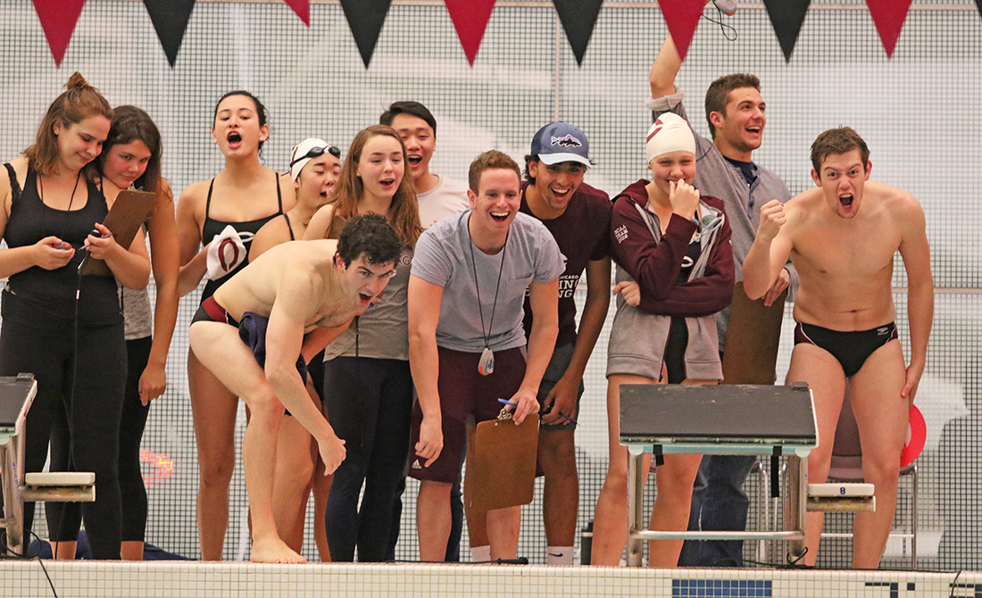 Shen, Baldinazzo Lead Way for Maroon Swimming & Diving in Double Dual vs Lewis & ONU