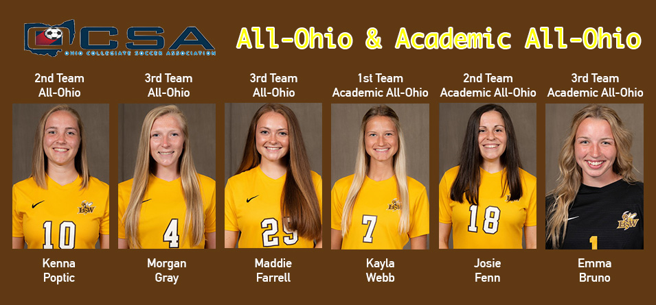 Six Women's Soccer Student-Athletes Recognized by the Ohio Collegiate Soccer Association
