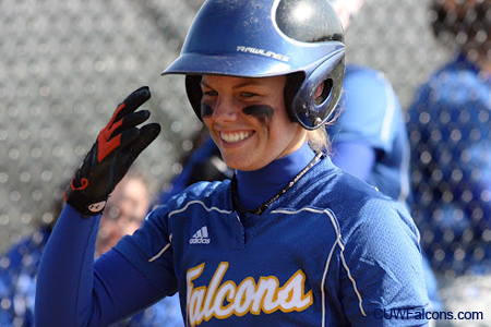 Strosina's bat comes alive, Softball sweeps Rockford
