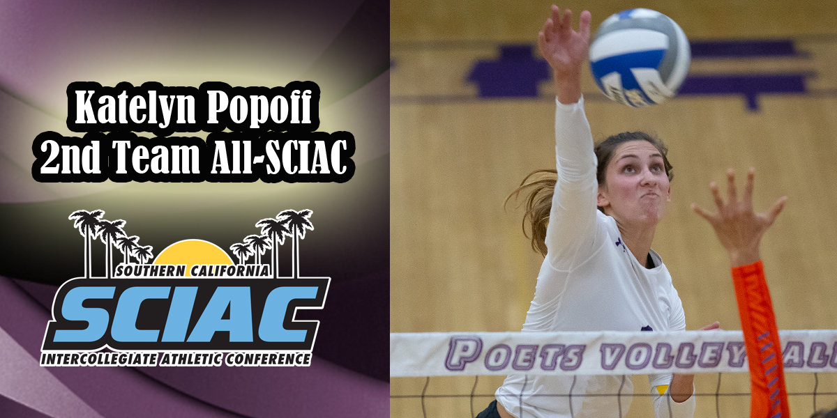 Katelyn Popoff named 2nd Team All-SCIAC