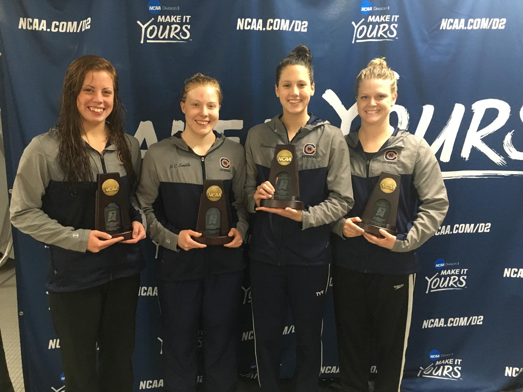 800 Free Relay finishes fifth to become All-Americans at Swimming and Diving Championships