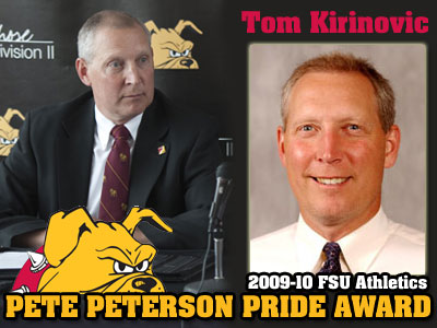 Tom Kirinovic Receives Peterson Pride Award