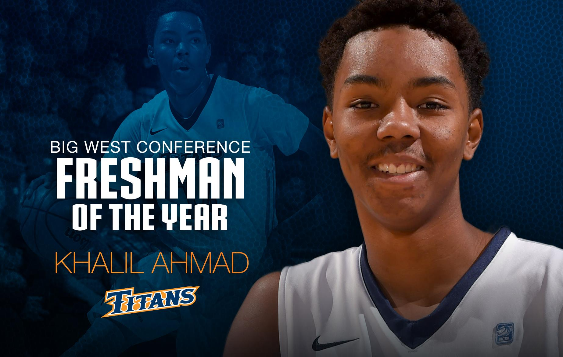 Ahmad Voted Big West Freshman of the Year