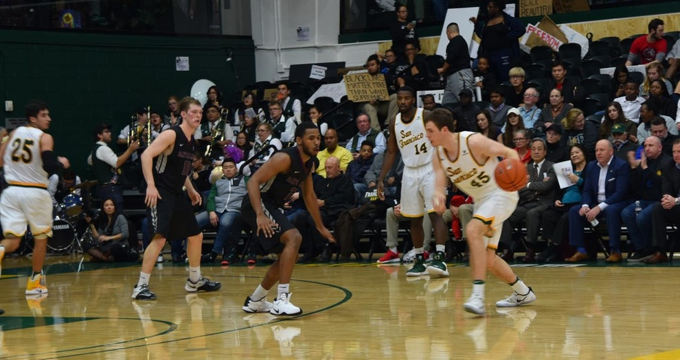 Men's Basketball Rally Falls Short, San Francisco Holds on for 61-58 Victory