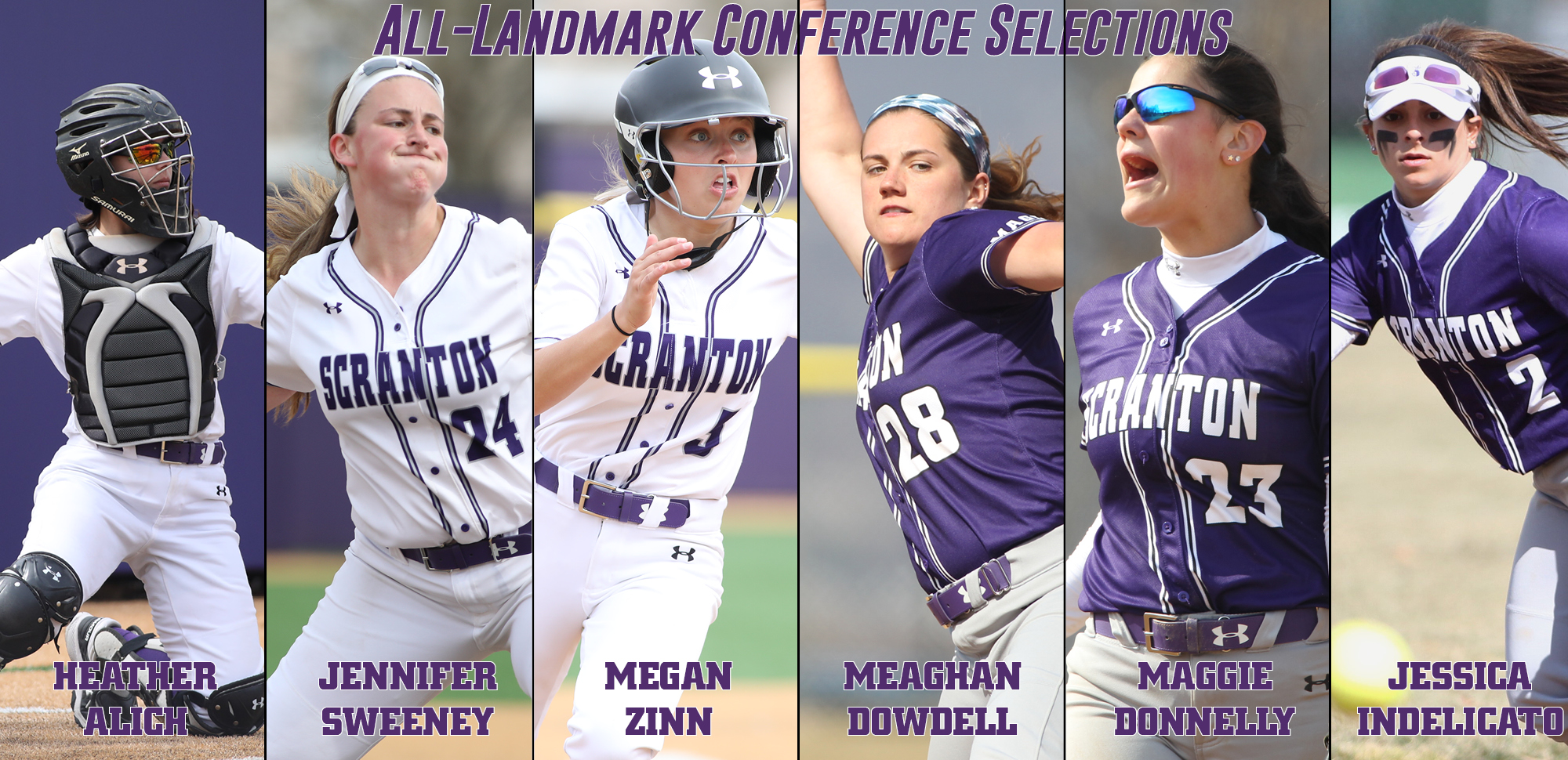 Three Earn First Team Honors to Headline All-Landmark Conference Softball Accolades for 2019