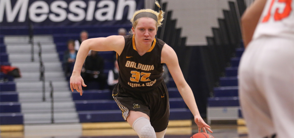 Freshman forward Lilly Edwards scored 15 points in BW's second round loss to Messiah (Photo courtesy of Messiah College Athletics)